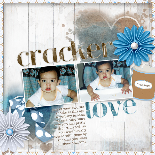 "Digital Scrapbooking Layout ""Cracker Love"" by Amanda Fraijo-Tobin (see supply list with links below)"