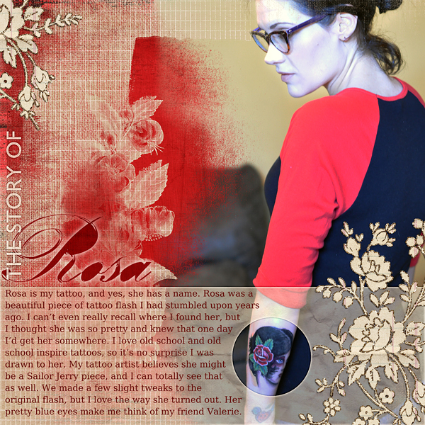 "Digital Scrapbooking layout ""The Story of Rosa"" by Amanda Fraijo-Tobin (uses products listed below)"