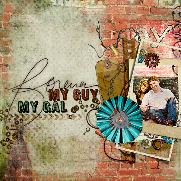 "Digital Scrapbooking Layout ""Forever"" by Amanda F (see supply list with links below)"