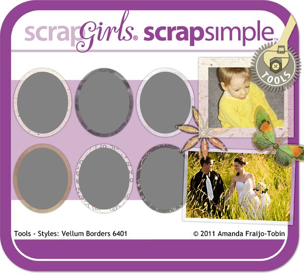 Sold Separately ScrapSimple Tools - Styles: Vellum Borders 6401 (link to product below)