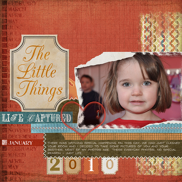 "Digital Scrapbooking Layout ""The Little Things"" by Amanda Fraijo-Tobin (see supply list with links below)"