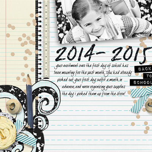 2014-2015 school layout by Amanda Fraijo-Tobin using School Basics 2 Collection Super Mini