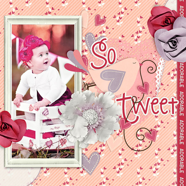 "Digital Scrapbooking Layout ""So Tweet"" by Amanda Fraijo-Tobin uses So Tweet Collection Mini"