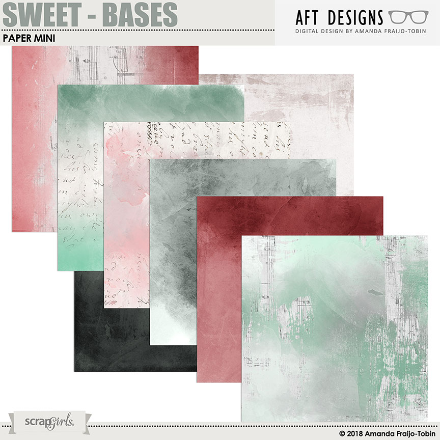 Sweet - Bases #digitalscrapbooking Papers by AFT Designs - Amanda Fraijo-Tobin @ScrapGirls.com