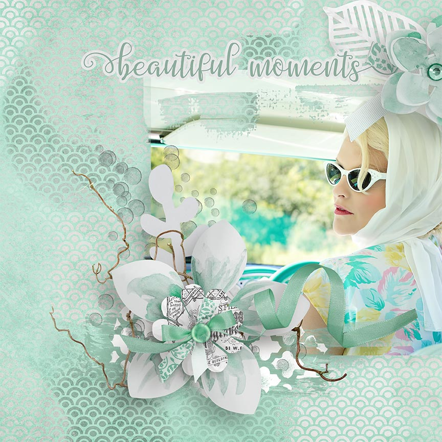 "Digital Scrapbooking layout ""beautiful moments"" by AFT Designs - Amanda Fraijo-Tobin"
