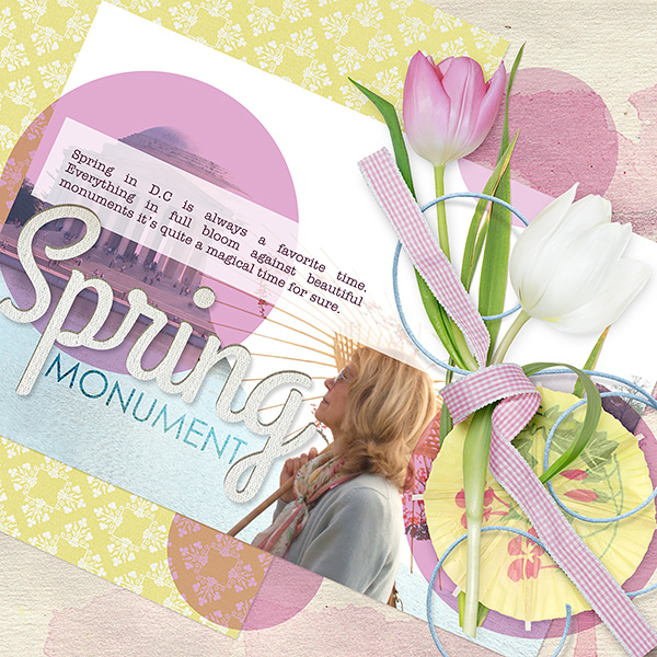 Spring Monument layout by Amanda Fraijo-Tobin uses Tender Spring Collection