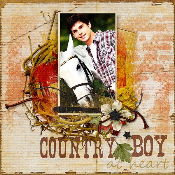 """""""Country Boy"""" layout by Amanda Fraijo-Tobin using Value Pack: Pepper"""