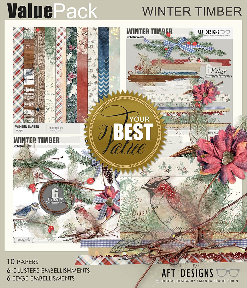 Value Pack: Winter Timber by AFT designs @ ScrapGirls.com