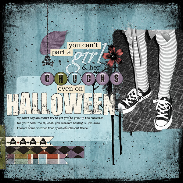 "Digital Scrapbooking Layout ""A Girl and her chucks"" by Amanda Fraijo-Tobin (see supply list with links below)"