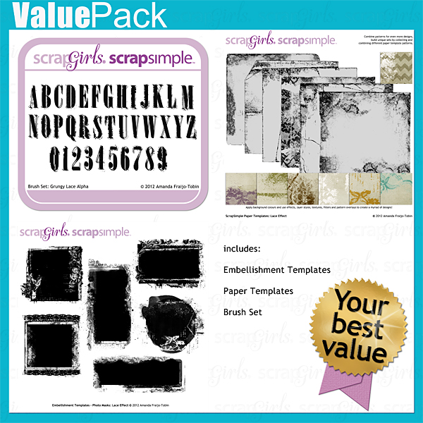 Value Pack: Lace Effect - Commercial License