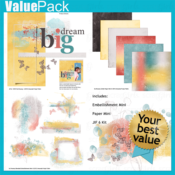 Sold Separately Value Pack: So Dreamy (link to product below)