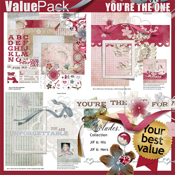 "Sold Separately <a href=""http://store.scrapgirls.com/value-pack-you-re-the-one-p27803.php"">You're The One</a>"