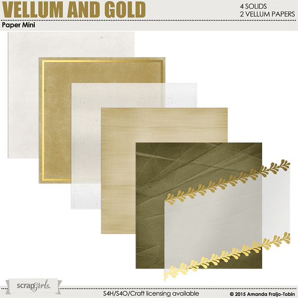 Vellum and Gold Solids Paper Mini