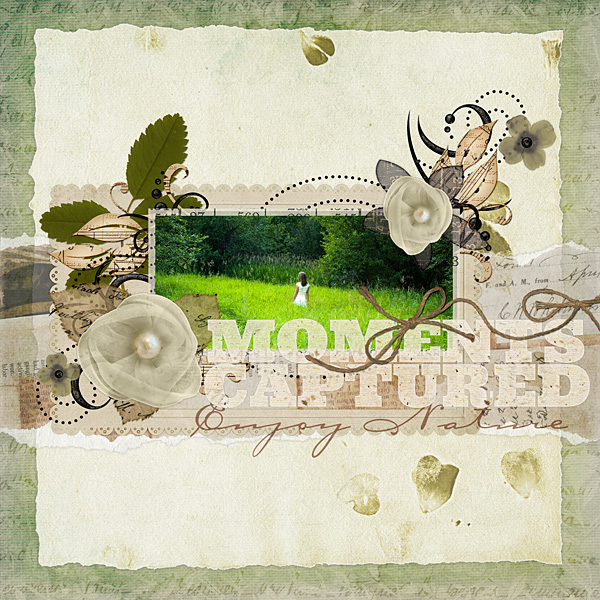 """Digital Scrapbooking Layout """"Moments Captured"""" by Amanda Fraijo-Tobin (see supply list with links below)"""
