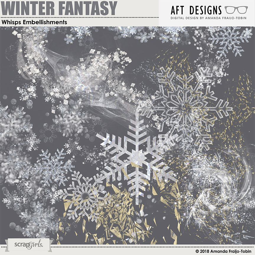 Winter Fantasy - Whisps Embellishments by AFT Designs - Amanda Fraijo-Tobin @ScraGirls.com
