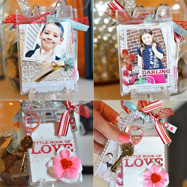 Digital Scrapbooking Hybrid Mini Badge Album by Amanda Fraijo-Tobin using: Easy Page Pro Album: 3.2 x 2.5 ID Badge You're The One