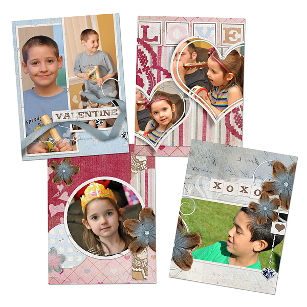 Digital Scrapbooking Layouts by Amanda Fraijo-Tobin using: Easy Page Pro Album: 3.2 x 2.5 ID Badge You're The One