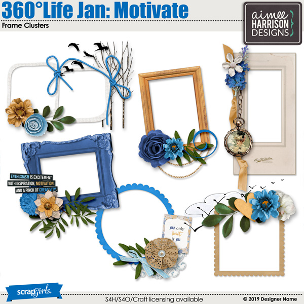 360Life Jan Motivate Frames
