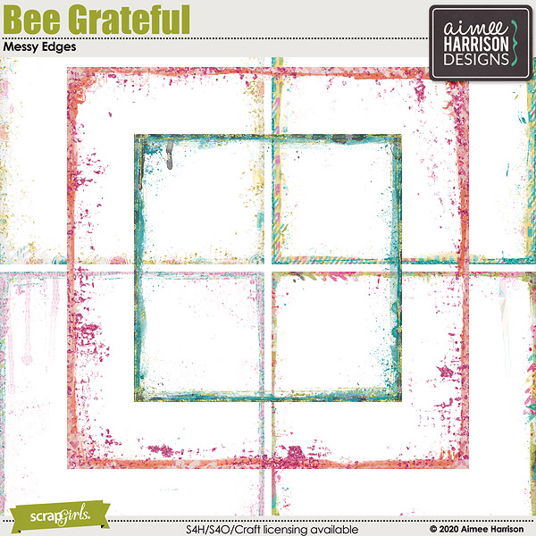 Bee Grateful Messy Edges