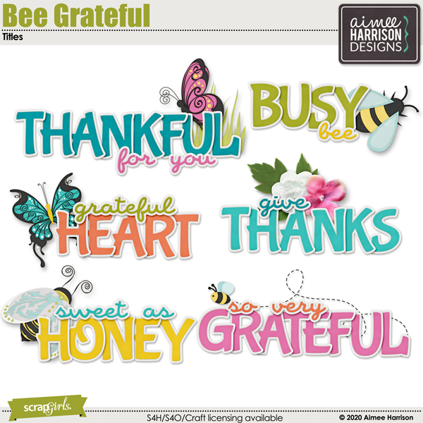 Bee Grateful Titles