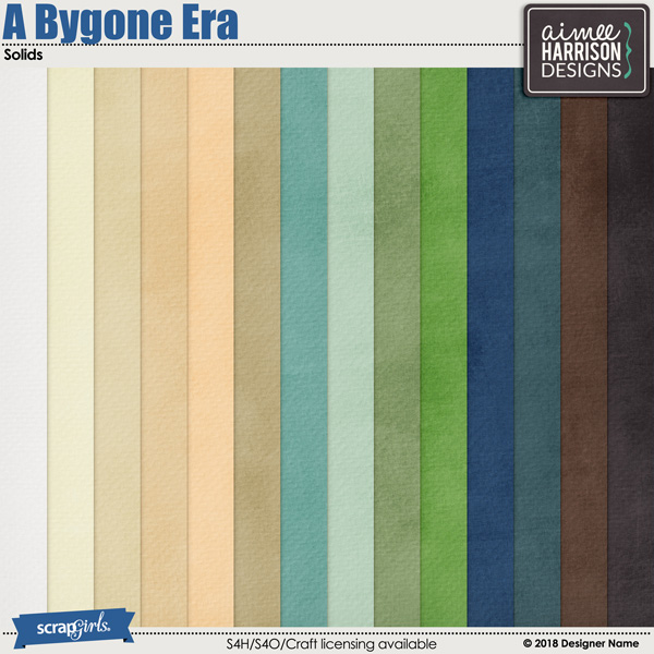 A Bygone Era Cardstock Papers