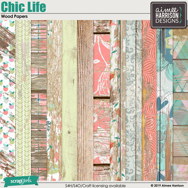 Chic Life Wood Papers