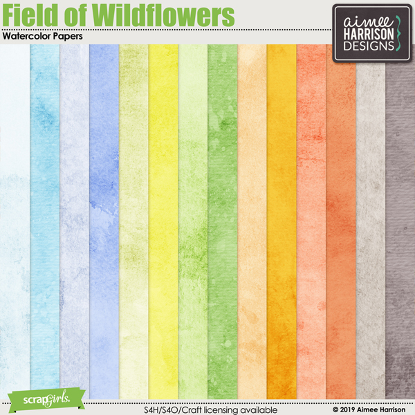 Field of Wildflowers Watercolor Papers