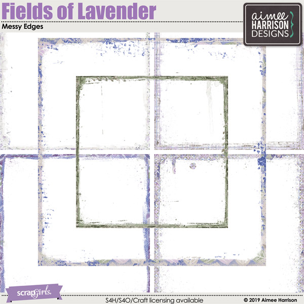 Fields of Lavender Messy Edges