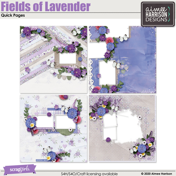Fields of Lavender Quickpages