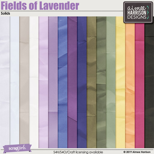Fields of Lavender Solid Papers