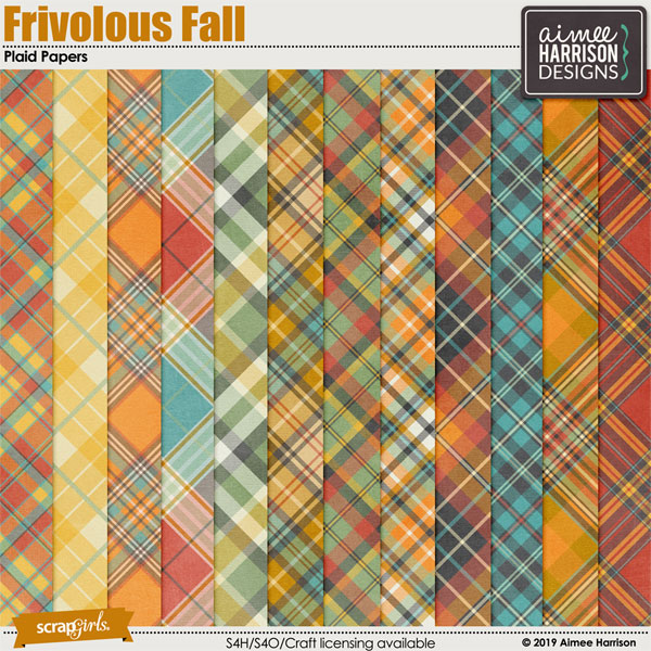Frivolous Fall Plaid Papers