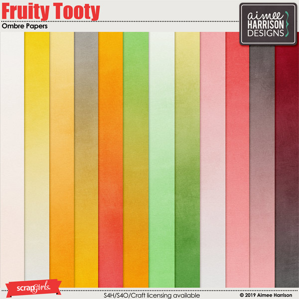 Fruity Tooty Ombre Papers