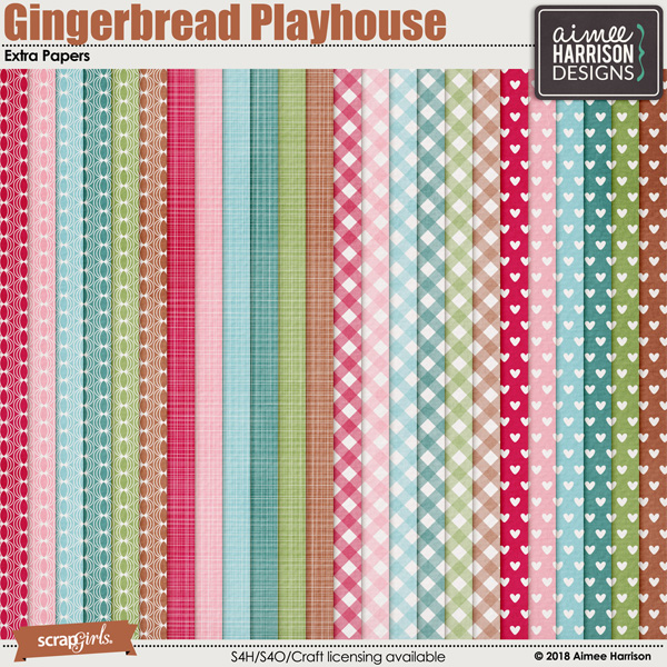 Gingerbread Playhouse Extra Papers