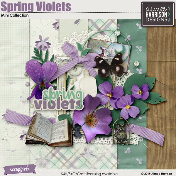 Spring Violets Collection Mini