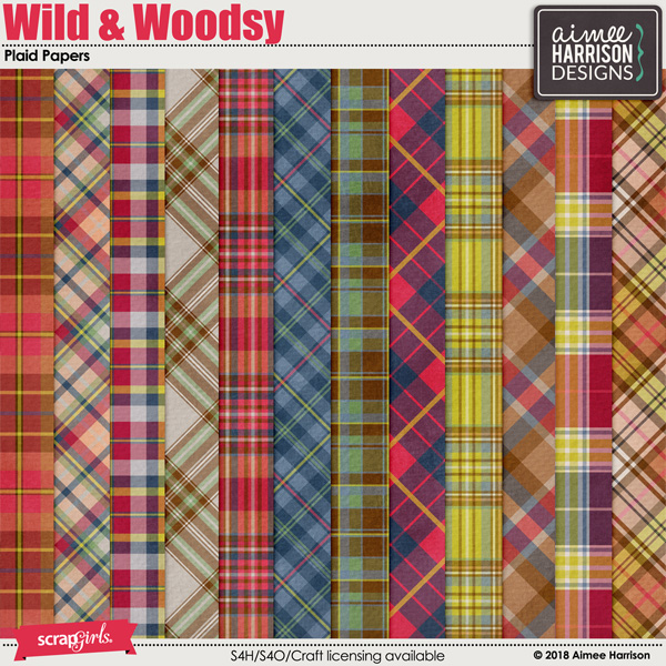 Wild and Woodsy Plaid Papers
