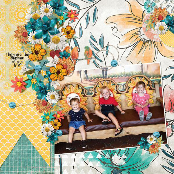 Sunshine of My Life digital scrapbooking layout using My Journal Collections