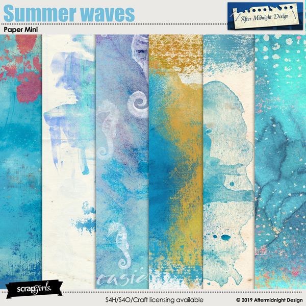 Summer waves Paper Mini by Aftermidnight Design