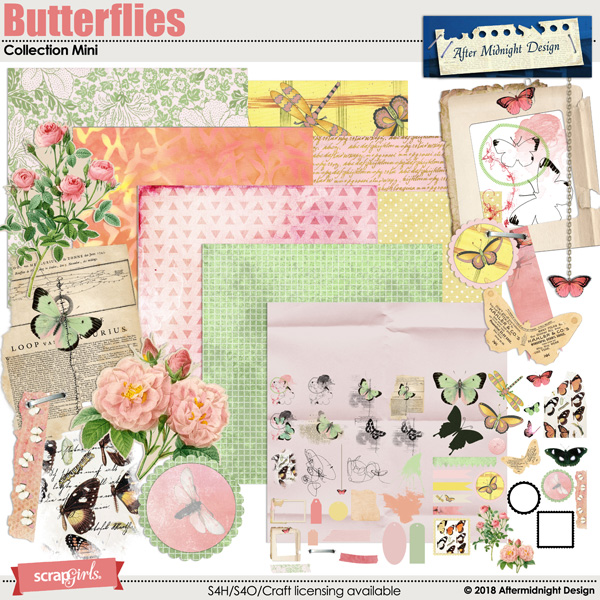 Butterflies Collection Mini by Aftermidnight Design