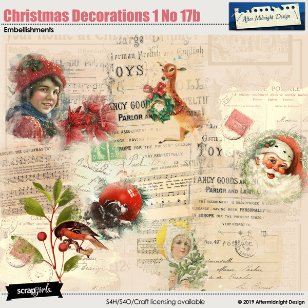 Christmas Decorations 1 No 17b by Aftermidnight Design