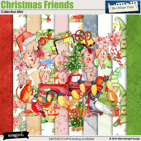 Christmas Friends by Aftermidnight Design