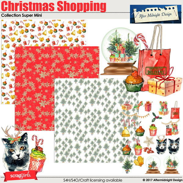 Christmas Shopping Super Mini by Aftermidnight Design