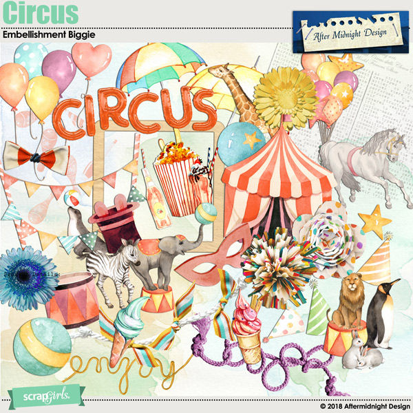 Circus Embellishment Biggie by Aftermidnight Design