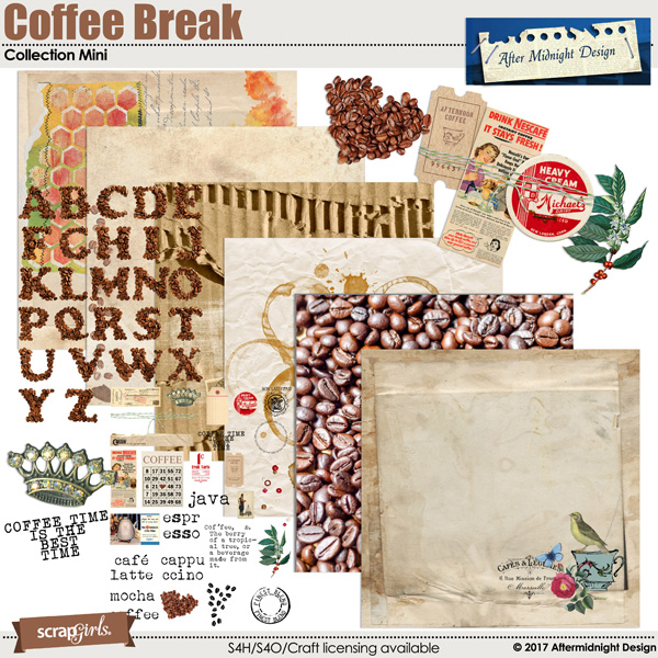 coffee Break Collection Mini by Aftermidnight Design