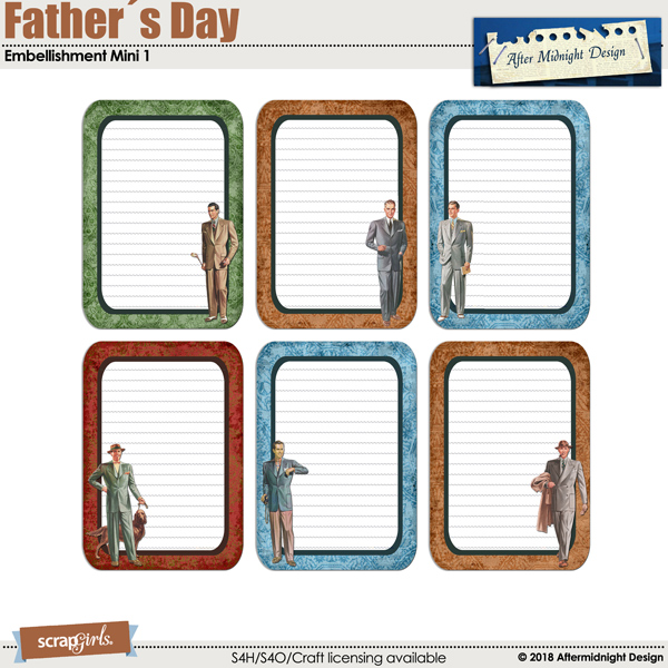 Father´s Day Embellishment Mini 1 by Aftermidnight Design
