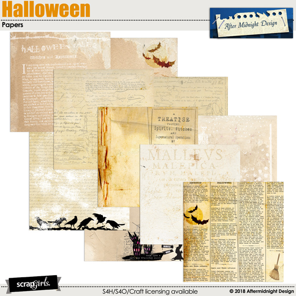 Halloween Papers 1 by Aftermidnight Design