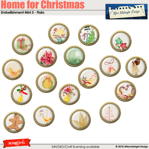 Gome for Christmas EmbMini 5 Flairs by Aftermidnight Design