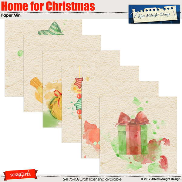 Home for Christmas Paper Mini by Aftermidnight Design