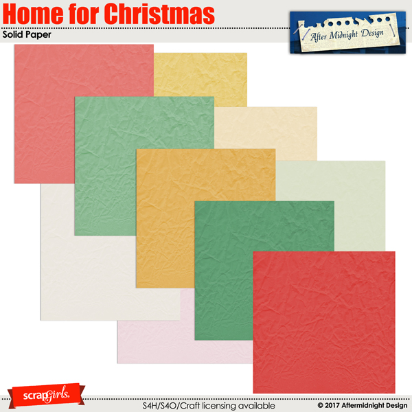 Home for Christmas Solid Paper by Aftermidnight Design