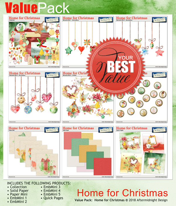 Home for Christmas Value Pack by Aftermidnight Design