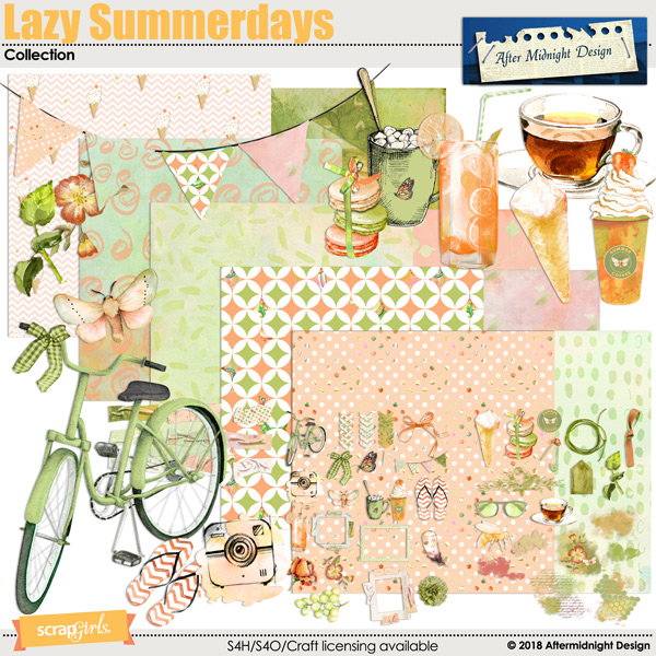 Lazy Summerdays Collection by Aftermidnight Design